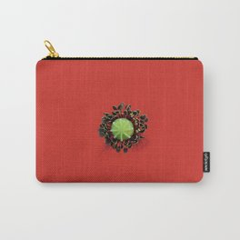 Red Poppy Flower Core Macro Carry-All Pouch