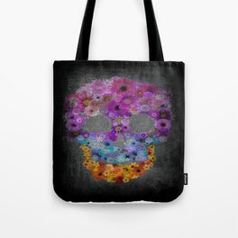 Sugar Skull Made Of Flowers Tote Bag