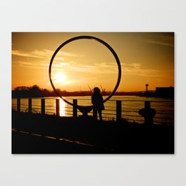 The Girl in a Ring Canvas Print