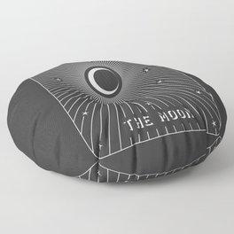 Minimal Tarot Deck The Moon Floor Pillow