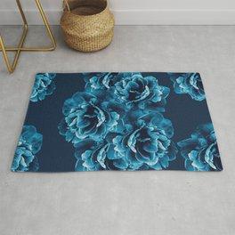 Blue Peony Flower Bouquet #1 #floral #decor #art #society6 Rug
