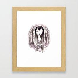 Vamp Girl Framed Art Print