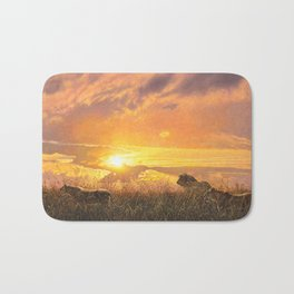 Sunset by Alan M Hunt Bath Mat