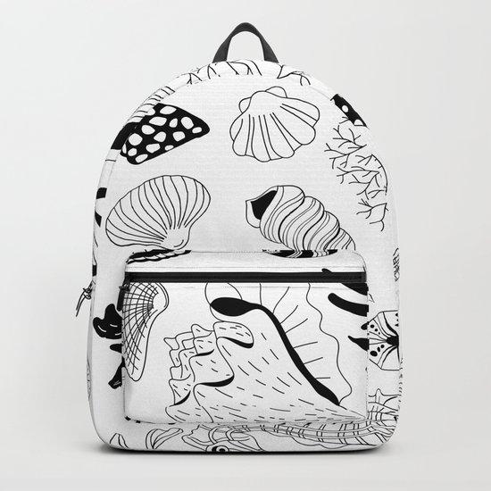 Tropical underwater creatures and seaweeds Backpack