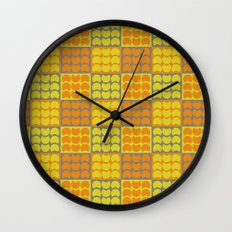 Hob Nob Orange Quarters Wall Clock