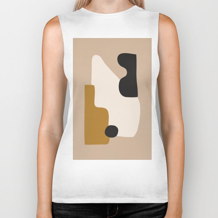 abstract minimal 16 Biker Tank