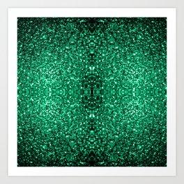 Beautiful Emerald Green glitter sparkles Art Print