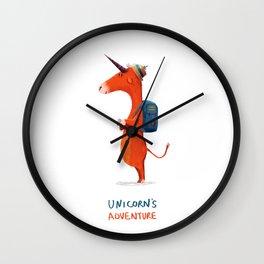 Unicorn's adventure Wall Clock
