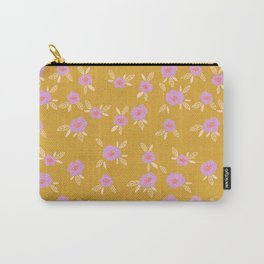 Golden Floral Carry-All Pouch