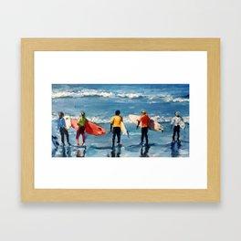 Crown City Surf Kids Framed Art Print