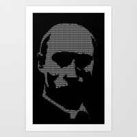 putin Art Prints featuring Putin by Galza Ascii Art