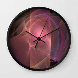 Pastel Sunshine Wall Clock