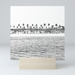 Vintage Newport Beach Print {4 of 4} | Photography Ocean Palm Trees B&W Tropical Summer Sky Mini Art Print