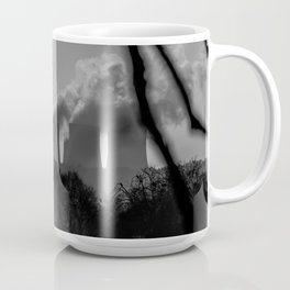 Power plants over a lake Coffee Mug