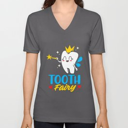 Dentist Cute Tooth Fairy Dental Assistant Student Unisex V-Neck
