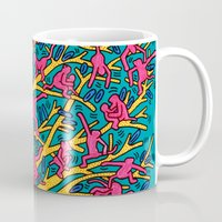 keith haring Mugs featuring Keith Haring: The Tree of Monkeys by cvrcak