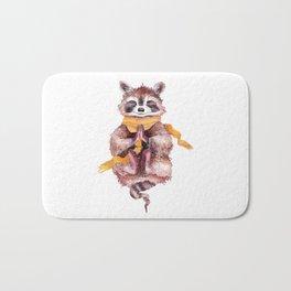 Raccoon buddha Bath Mat