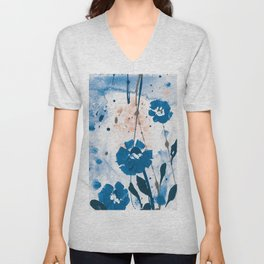 Dreaming In Blue 100zg by Kathy Morton Stanion Unisex V-Neck