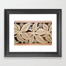 Bronze Art deco leaves Framed Art Print