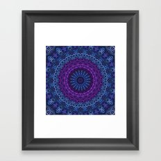 Twilight Mandala Framed Art Print