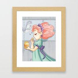 Cotton Candy Carousel Framed Art Print