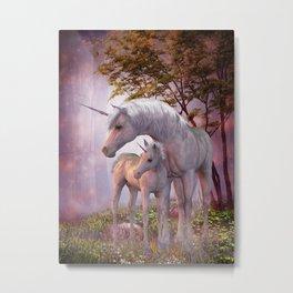 Enchanted Unicorns Metal Print