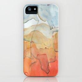 Blue and Orange Merger iPhone Case
