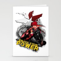 """infamous Stationery Cards featuring InFamous Second Son - """"ENJOY YOUR POWER"""" by Emme Gray"""