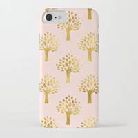 gold foil iPhone & iPod Cases featuring Pink Gold Foil 02 by Aloke Design