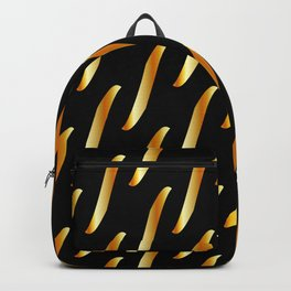 Gold link chain texture Backpack