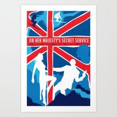 James Bond Golden Era Series :: On Her Majesty's Secret Service Art Print