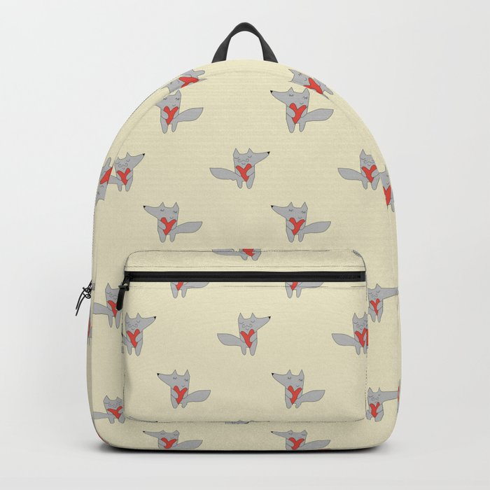 Fox in love Backpack
