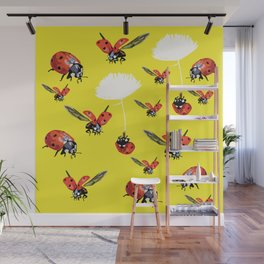 Ladybirds Wall Mural