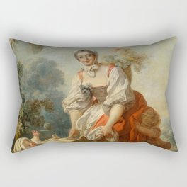 """Jean-Honoré Fragonard """"The Joys of Motherhood"""" Rectangular Pillow"""