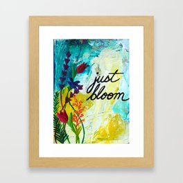 Just Bloom Framed Art Print