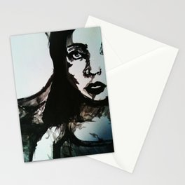 Girl Portrait (B Side) Stationery Cards