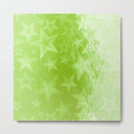 Green Starshine Metal Print
