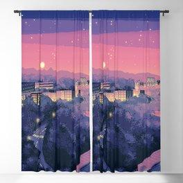 Pixel City 3 Blackout Curtain