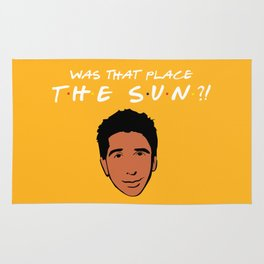Was that place... The Sun?! - Friends TV Show Rug