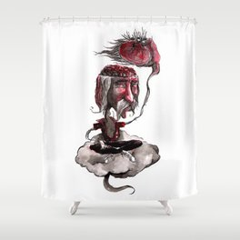 Open Your Head Shower Curtain