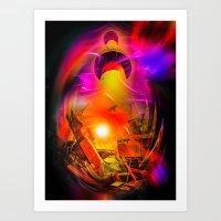 Lighthouse romance 15 Art Print