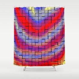Ondulations colorées .... Shower Curtain
