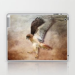Red Tail Hawk in Vintage Light Laptop & iPad Skin