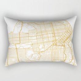 SAN FRANCISCO CALIFORNIA CITY STREET MAP ART Rectangular Pillow