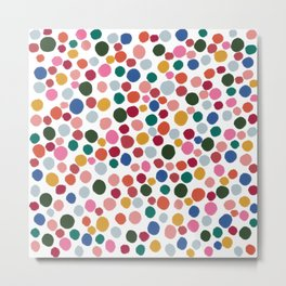 confetti rainbow dots Metal Print