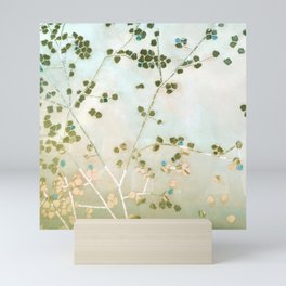 mosaica glitterati in blue + gold Mini Art Print