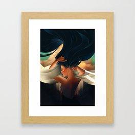 art deco girl Framed Art Print