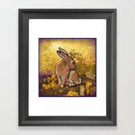 Abundance Bunny Framed Art Print