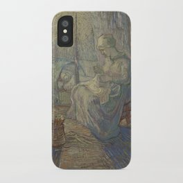 Vincent Van Gogh - Night after Millet iPhone Case