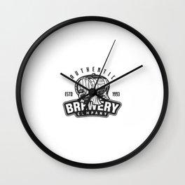 Modelo De Logotipo De Cervejaria Vintage Wall Clock